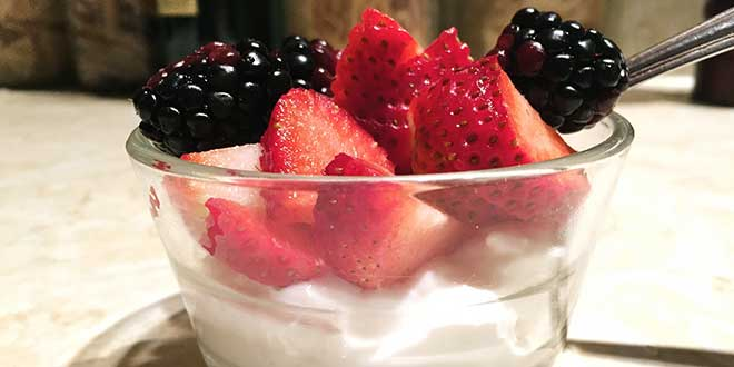 Queso quark con mix de frutas